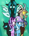 Starlight and Friends vs Chrysalis
