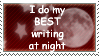 Best Writing at Night Stamp by HarukaWind