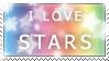 I Love Stars Stamp by HarukaWind