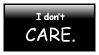I Don't Care stamp by HarukaWind