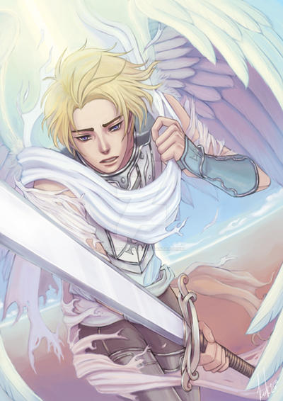 anime angels featured art battle angel by animeangelsbook on