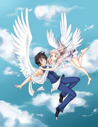 Anime Angels featured art - 'For Only Two' by animeangelsbook
