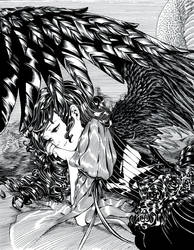 Anime Angels featured art - 'Monochrome' by animeangelsbook