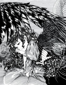 Anime Angels featured art - 'Monochrome'