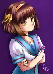 Annoyed Haruhi by SailorGigi