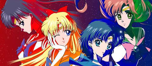 Crystal Inner Senshi Laserdisc redraw Combo