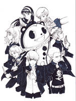 Persona 4 Inktober by SailorGigi