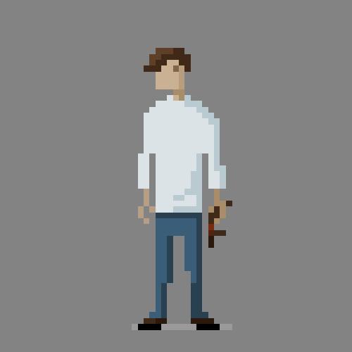 Danger On Right >> Pixel Guy by SimeonTemplar on DeviantArt