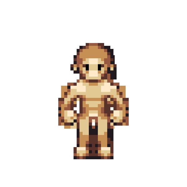 Pixel base chubby, big busty centerfold