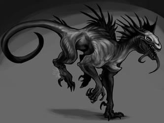 Commission - Alien creature by Surk3