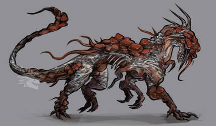 Commission - Fungus monster by Surk3