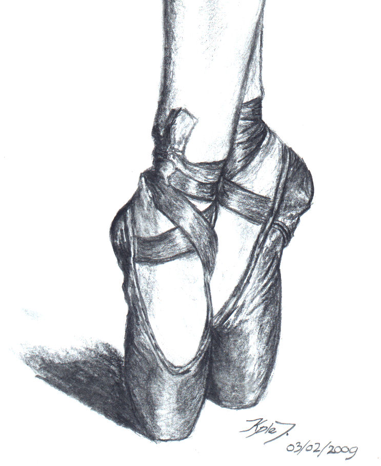 ballet shoes drawing easy - photo #20