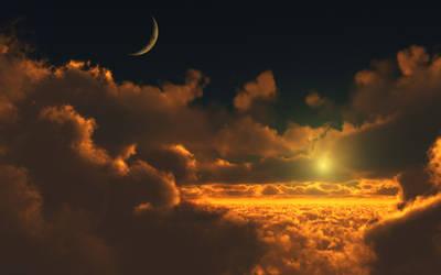 Golden cloudscape_wide