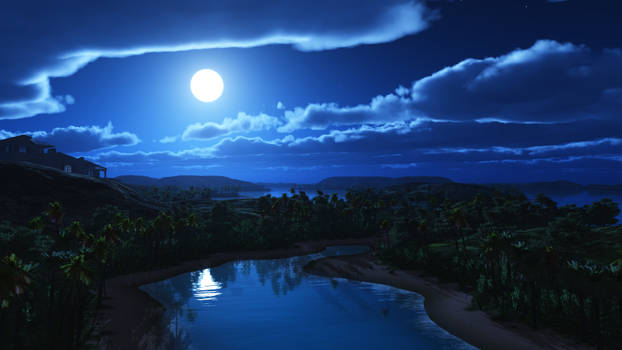 Hilltop view at night_4K