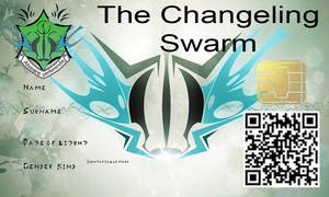 The swarm id card template
