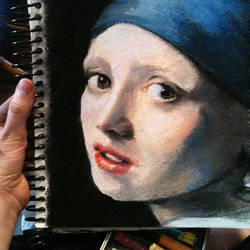 Girl with the Pearl Earring by abibuu