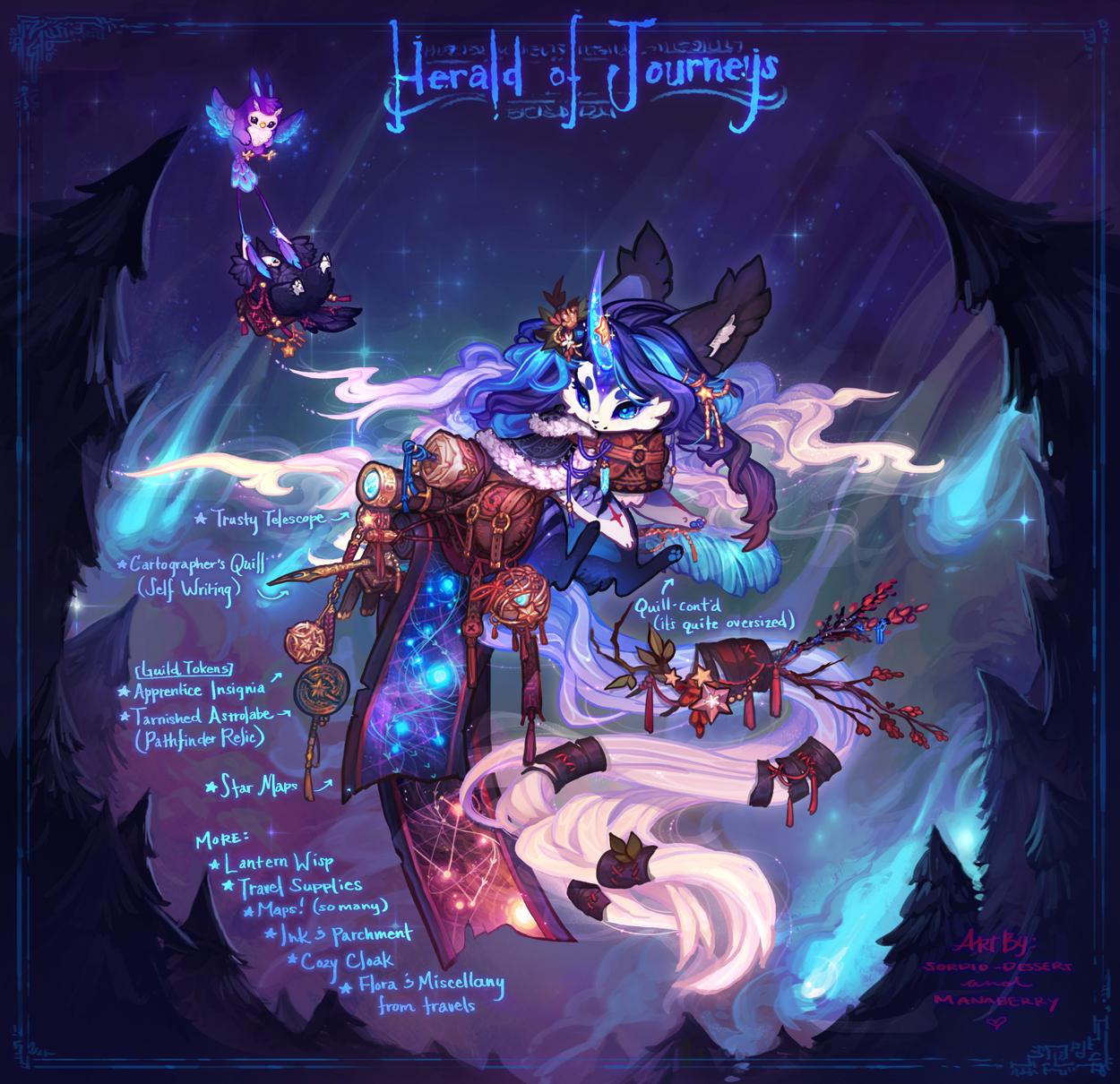 [Auction] Herald of Journeys  [OVER! HAPPY 2017!] by manaberry