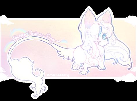 Happy birthday to meee~ Also Happy Unicorn Day!