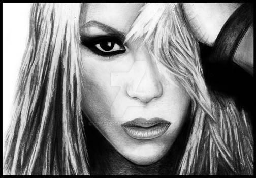 Shakira Portrait by Cpt