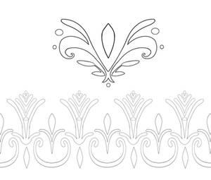 Elsa Coronation Dress Pattern Outlines