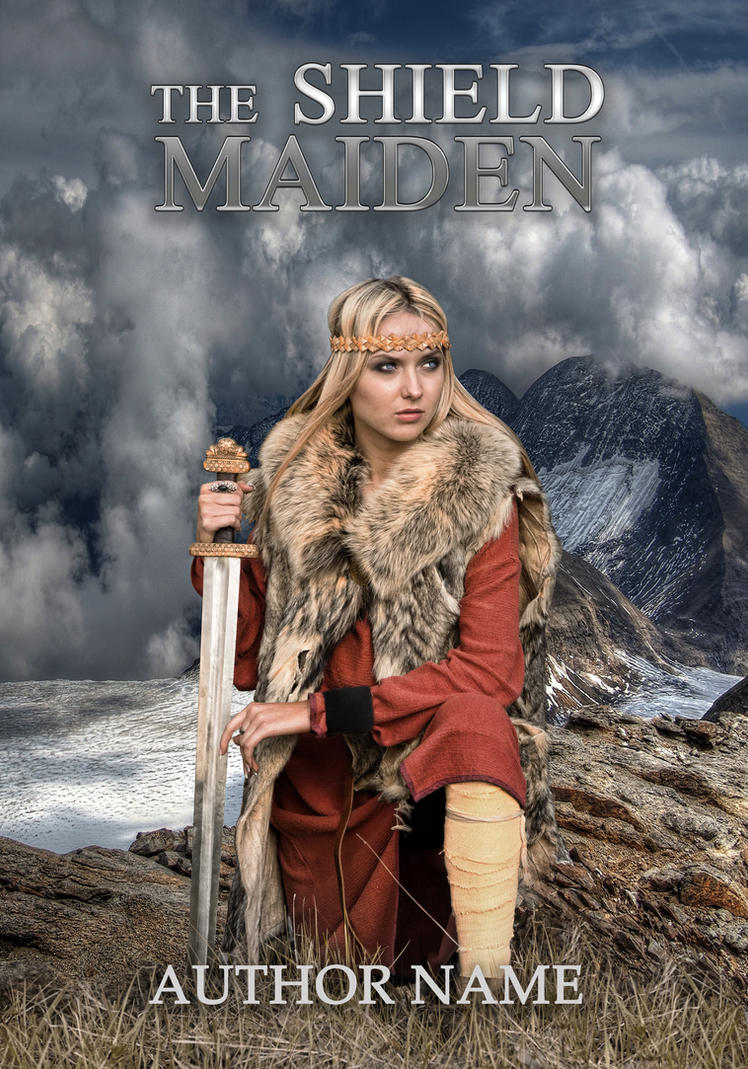 The Shield Maiden - book cover by MihaelaJoeDesigns