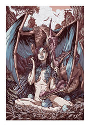 Prehistoric Pinup - Mother of Pterosaurs by GeorgeSellas