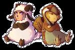 sheep and bird