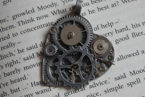 Steampunk Silver Necklace by tgwttn