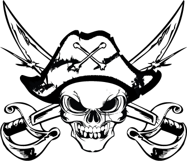 Pirate Skull Logo by jPhive