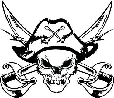 Pirate Skull Logo by jPhive