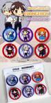 Evangelion-button set by Ai-wa