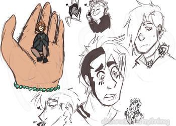 A bunch of random G/T doodles by MythrilMog