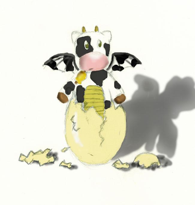 Baby Dragon Cow By Meh Cannot Draw On Deviantart