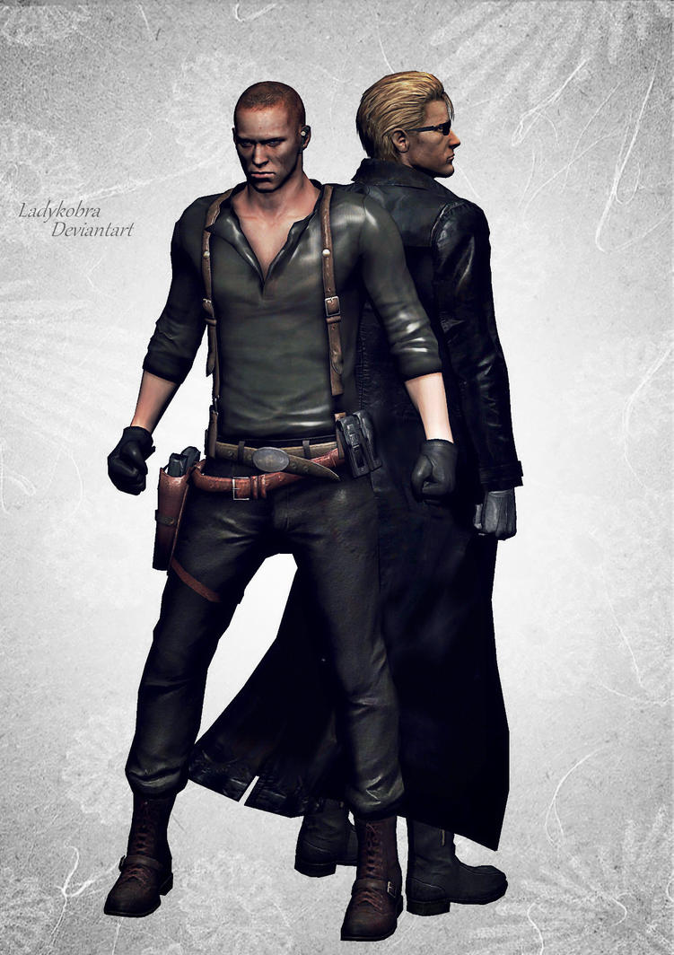 Jake and Wesker. by ladykobra