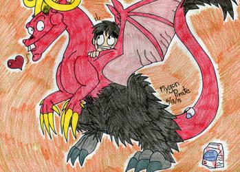 Leo and Satan by SilentDragon64