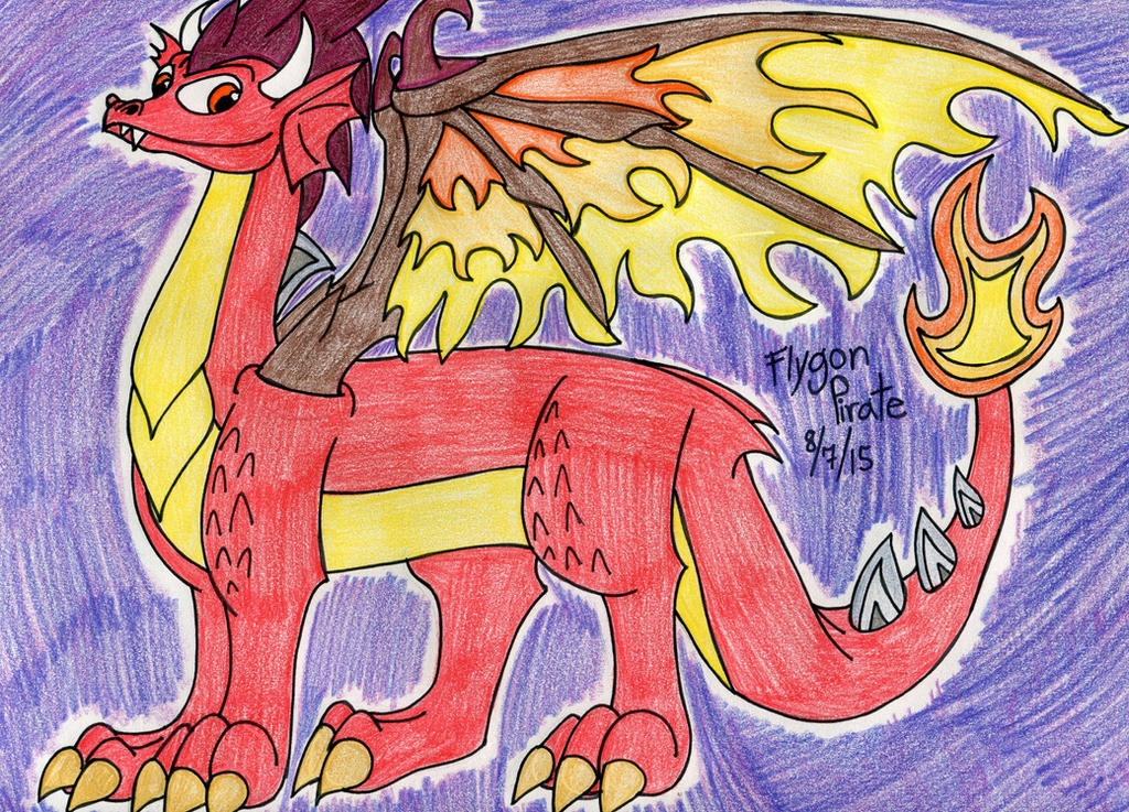 Dragon City  Young Fire Dragon By SilentDragon64 ...