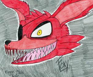 FNAF- Foxy Head by SilentDragon64