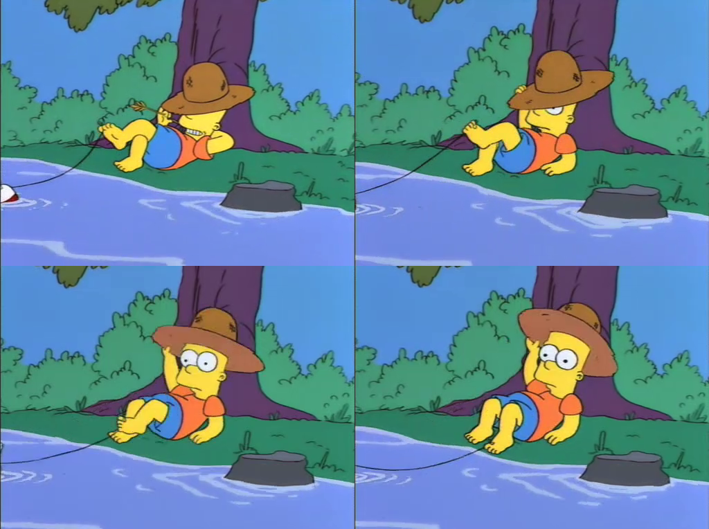 Bart Simpson fishing with feet by 93connector