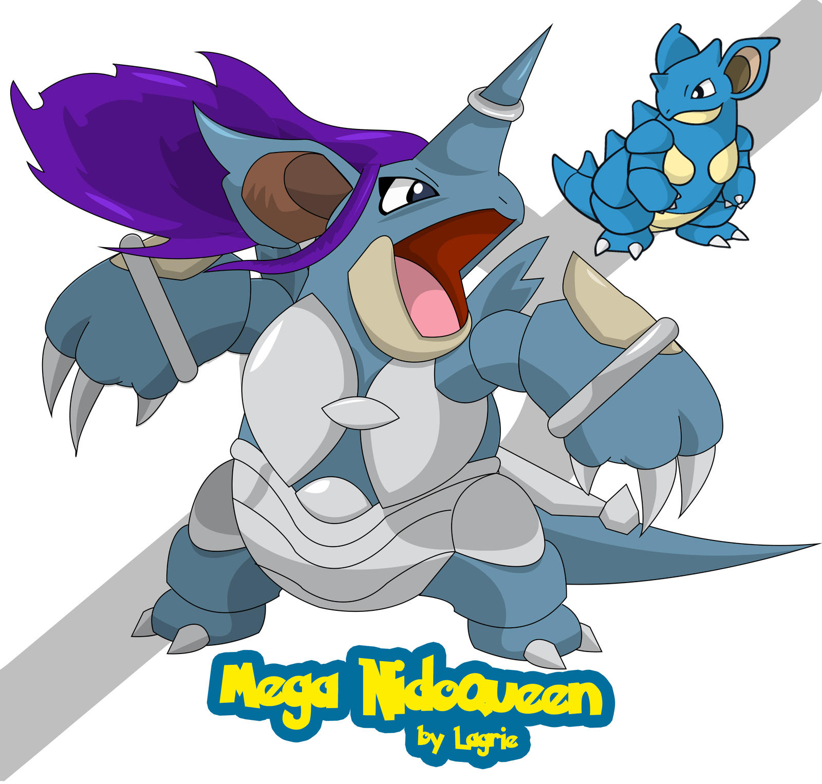 Mega Nidoqueen by lagrie on DeviantArt