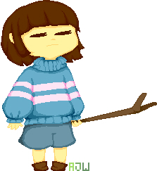 Charming Frisk Pixel Art By The Deadly Brain ...