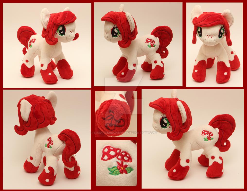 Custom handmade My Little Pony OC plush - Scarlet by SugarcubeCherry