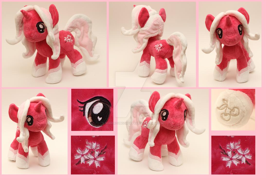 Custom handmade My Little Pony OC plush - Sakura by SugarcubeCherry