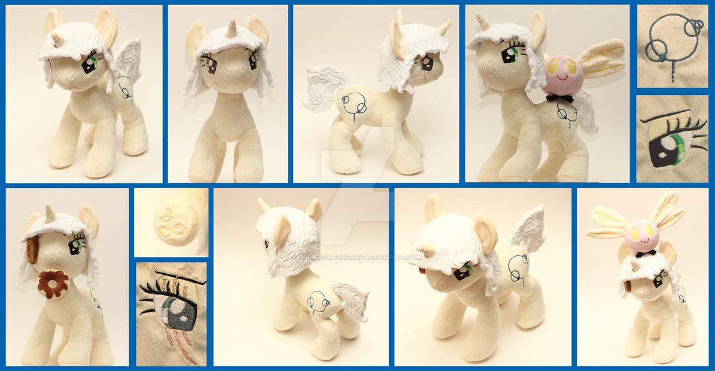 Custom handmade My Little Pony OC plush - Cheeva by SugarcubeCherry