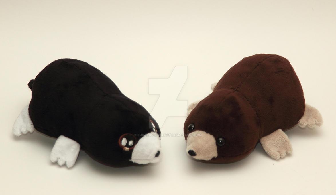 Handmade cute little mole plushies by SugarcubeCherry