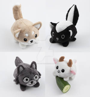 Pebble animal plushies - a handful of cuteness