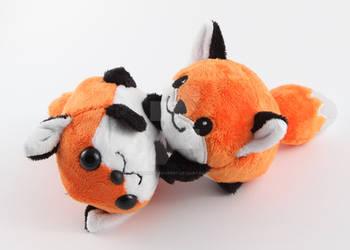 Fox kits playing - romping time by SugarcubeCherry