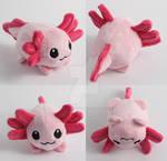 Kawaii little axolotl pebble plush