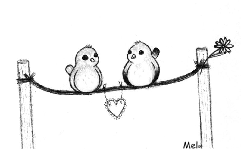 Love Birds Sketch By Emmani-Nessa On DeviantArt