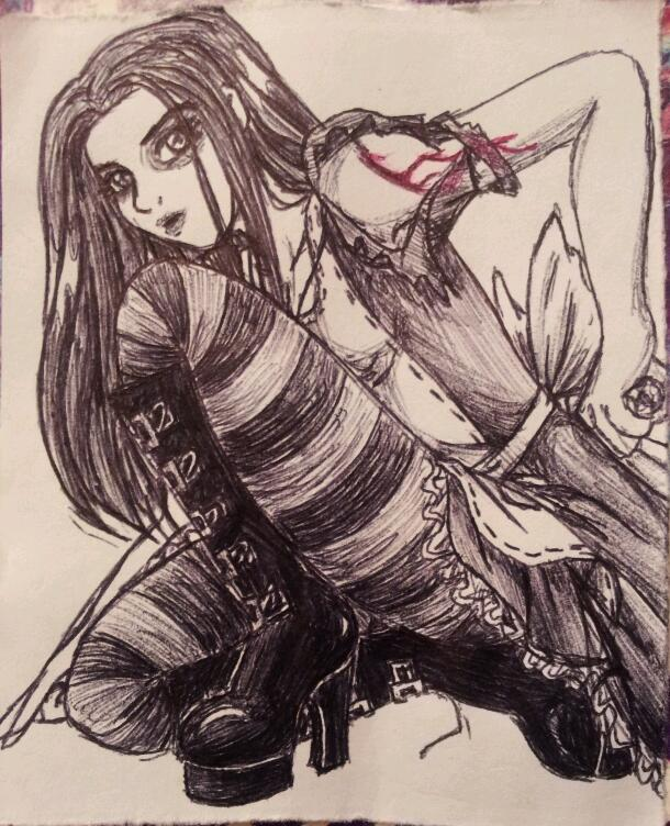 alice madness: inked by chickiedee