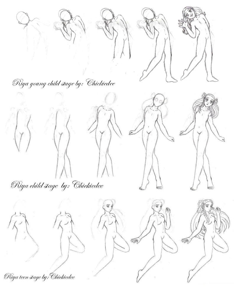 how i draw the female body by chickiedee